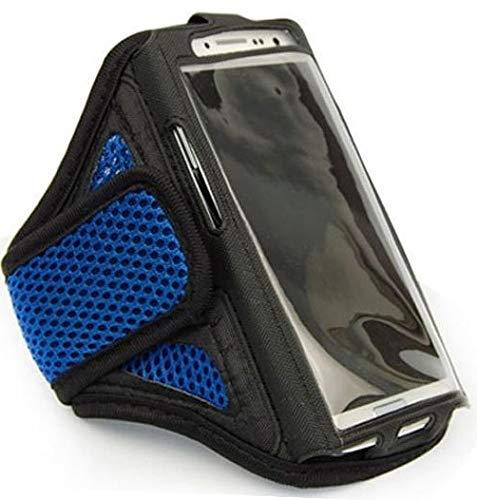 Sportarmband Jogging Schutzhülle passend für BlackBerry Z10 Fitness Laufen Joggen Handytasche - Dealbude24, Arrow M Blau