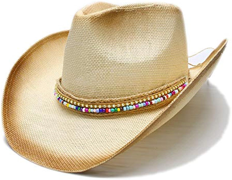 FengHe Fashion Moda Belle Donne Cappello di Paglia Western con Cowboy con  Western Fai da Te Fatti a Mano Lady Lady pap agrave  Sombrero... Parent  b951c8 146e8ac342a4