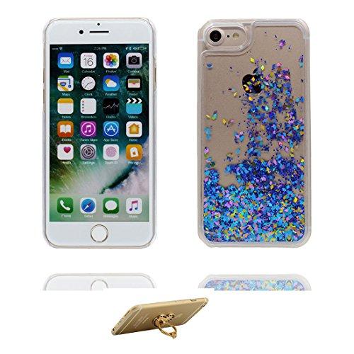 "Coque iPhone 6, [Bling Bling Glitter Fluide Liquide Sparkles Sables] iPhone 6s étui Cover (4.7 pouces), iPhone 6 Case (4.7""), anti- chocs & ring Support- Make Up Palette Lipstick Perfume # 1"