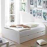 Pharao24 Jugendbett Massivholz Weiß Breite 149 cm Liegefläche 140x200