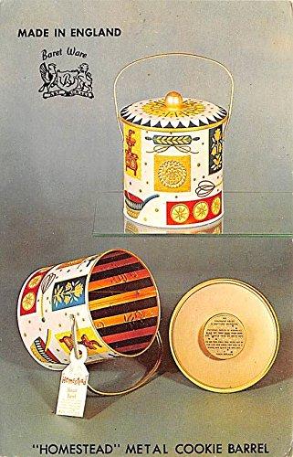 Advertising Old Vintage Antique Post Card Homestead Cookie Barrel Unused Barrel Cookie