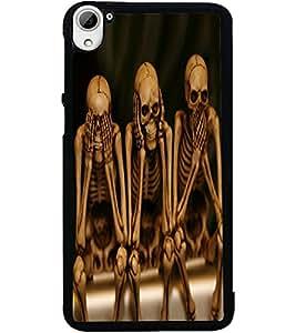 ColourCraft Funny Skeletons Design Back Case Cover for HTC DESIRE 826