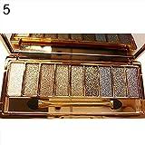 PEATAO 9 couleurs palette de paillettes de fard à paupières maquillage imperméable avec pinceau Fards à paupières