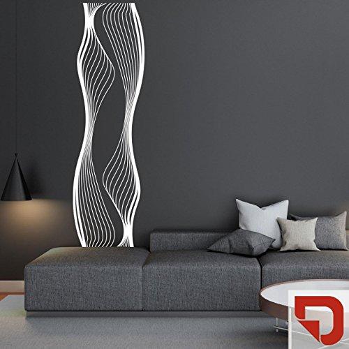 DESIGNSCAPE® Wandtattoo Banner Liquid   Originelles Wandtattoo Streifen 58 x 200 cm (Breite x Höhe) rot DW807378-M-F20