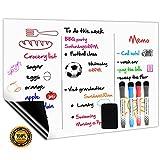 Magnetisches Whiteboard Kühlschrank Magnettafel A3+ für Magnetic Fridge Wöchentliche Einkaufsliste
