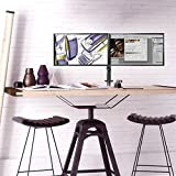 Image of Fully Adjustable Dual Arm Lcd Led Monitor Desk Mount Stand Bracket For 13 27 Screens With ±45° Tilt 360° Rotation 180° Pull Out Swivel Arm Max Vesa 100x100 Suptek Md6442