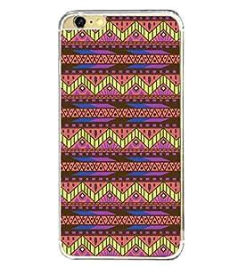 PrintVisa Designer Back Case Cover for Apple iPhone 6 Plus :: Apple iPhone 6+ (Pattern Zizzag Lines Triangle)