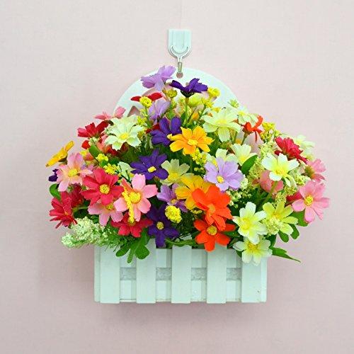 ALLDOLWEGE Personnalisé simple émulation menuiserie plastique en pot en pot pot de fleurs d'émulation de dans le mur lumière jardin exquis decorationThatThe couleurs ensemble +Hook
