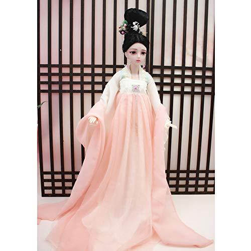 MEMIND schöne Puppe SD/bjd Puppe 60 cm Kostüm Puppe 1/3 Anzieh Anzug Hübsches Mädchen China Puppe Kind Mädchen Spielzeug,Pearl (China Doll Kostüm Kinder)
