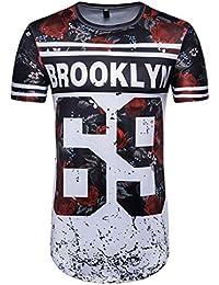 Camisetas, ❤ ⚽️Ba Zha Hei Número 69 de Verano Casual Camisas De Hombre de Moda Ajustado Camisetas de Hombres 3D Camiseta Fútbol…