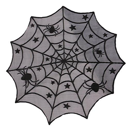 und Tischdecke Spinnen Muster Stoff Tischdecke Spinnennetz Look Horror Buffet Grusel Bankett Tafeldeko (Spinnennetz Muster Halloween)