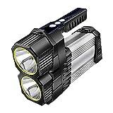 Taschenlampen Blendung Wiederaufladbare Wasserdichte Tragbare Xenon-Scheinwerfer Multifunktionsjagd Im Freien (Color : Black, Size : 24 * 7.5 * 16.4CM)