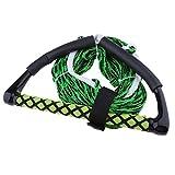D DOLITY Wasserskileine 23 Meter 75ft Wasserski Leine Wakeboard Seil Hantel Rope - Grün Farbe
