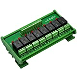 Electronics-Salon DIN Rail Mount 8 SPDT Power Relay Interface Modul, Omron 10 A Relais, 5 V Coil.