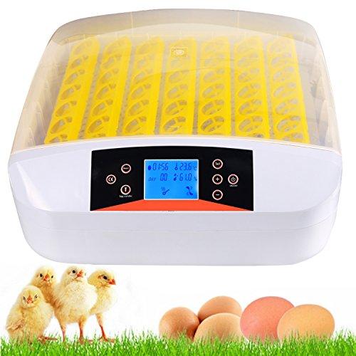Fastdirect incubatrice automatica schiusa macchina cova allevatore per 56 uova incubazione professionale brevettata controllo di temperatura per gallina anatra quaglia tutti uccelli