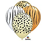 Qualatex Safari Zebra Leopard Cheetah Jungle Animal Zoo Party 11 Balloon Set (12) Latex by Qualatex