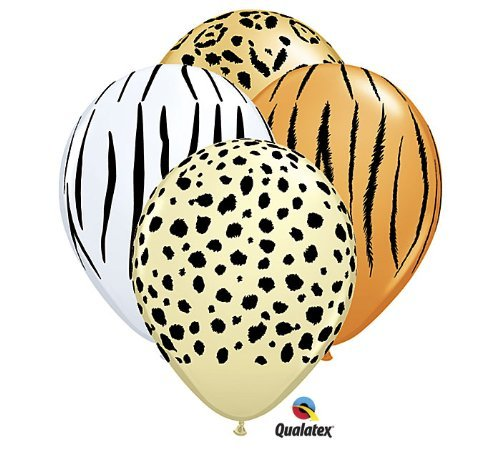 a Leopard Cheetah Jungle Animal Zoo Party 11 Balloon Set (12) Latex by Qualatex (Leopard Party Supplies)