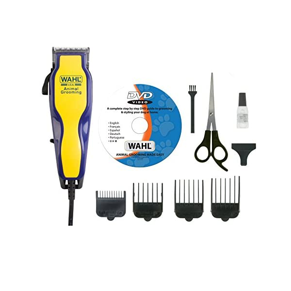 Wahl  9269-810 Multi Cut Mains Dog Clipper Set & Instructional DVD Blue / Yellow 1