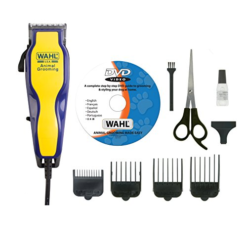 Price comparison product image Wahl Multi Cut Mains Dog Clipper Set & Instructional DVD Blue / Yellow