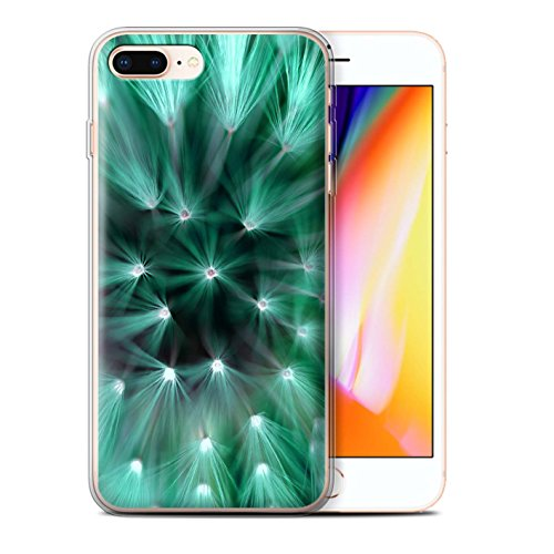 Stuff4 Gel TPU Hülle / Case für Apple iPhone 8 Plus / Blau Muster / Multi Farbe Licht Blume Kollektion Türkis