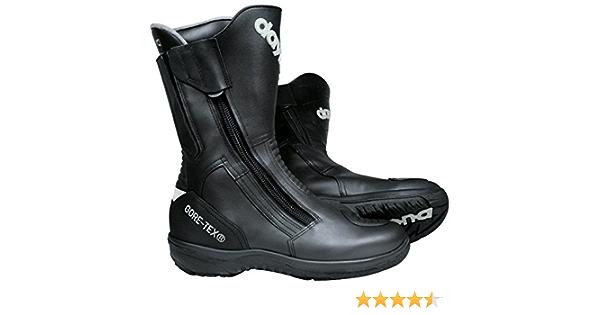 Daytona Boots Motorradschuhe Motorradstiefel Lang Road Star Gore Tex Stiefel Schwarz 42 Unisex Tourer Ganzjährig Leder Schuhe Handtaschen