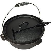 Wildfox Feuertopf 6/9 / 12 qt mit Standfüßen incl. Deckelheber - Dutch Oven