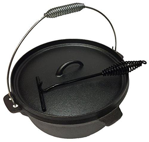 Wildfox Feuertopf 6 qt mit Standfüßen incl. Deckelheber - Dutch Oven