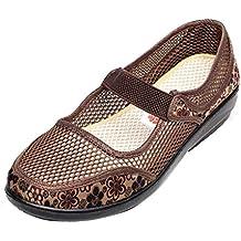 Zapatillas para Mujer Otoño PAOLIAN Calzado de Dama Planos Merceditas Zapatos Escolares con Rejilla Suela Blanda
