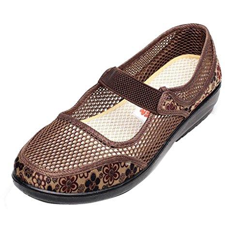d9fbc2118 Zapatillas para Mujer Otoño PAOLIAN Calzado de Dama Planos Merceditas  Zapatos Escolares con Rejilla Suela Blanda Espadrilles Cómodos Senderismo  Moda ...