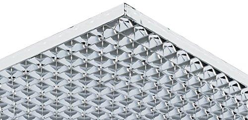 Lichtgitter Gitterrost Parabol Gitter-Profil gemäß DIN 5035 | 1213 x 604 mm | Kunststoff verchromt | MADE IN GERMANY | Möbelbeschläge von GedoTec®