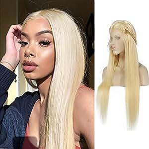 großer Verkauf begrenzter Verkauf gut aussehend 613 Lace Front Wig Blonde Perücke mit Echthaar 130% Seidig ...