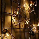 LY-JFSZ Lichterketten,Diamant-Form-Partei-Patio-Ausgangshochzeits-Garten-Weihnachtsschlafzimmer-Beleuchtung Außerhalb Der Dekoration 5M 50LED Batteriebetrieben