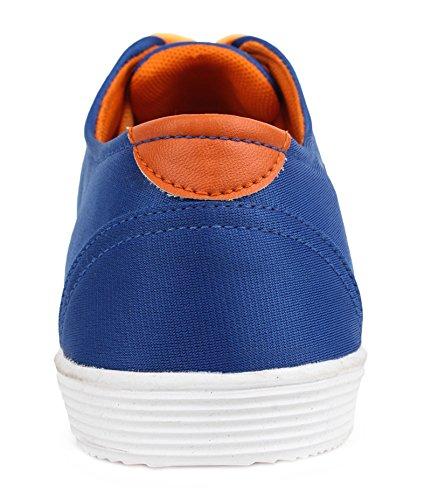 casual chaussures usure toile baskets hommes lacent chaussures formelle Bleu et jaune