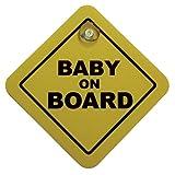 AutoStyle 1/07030 - Cartello Bebè a bordo con ventosa, 16 x 16 cm, colore: Giallo