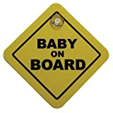 Autostyle 1/07030 Auto-Sticker/Auto-Aufkleber Baby On Board, 16 x 16 cm, Gelb