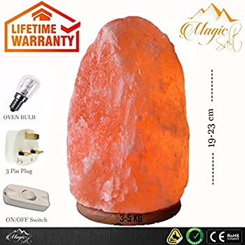 100 premium quality natural pink himalayan crystal rock salt lamp with ce certified electric fitting according to uk standard by magic salt natural 3 5 kg