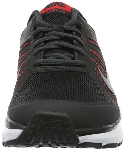 Nike Dart 12, Scarpe da Corsa Uomo Nero (Schwarz/weiß/cool Grau/universität Rot)