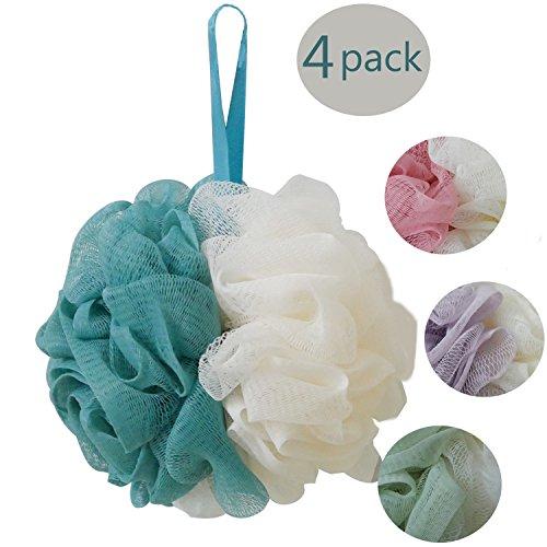 Esponjas de flor Esponja exfoliante de malla Cepillos de cuerpo para exfoliar, limpiar, calmar la piel - 4pcs/pack (50g/pcs)