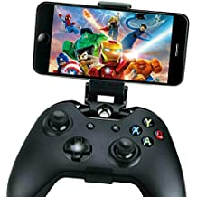 Mobile Gaming Clip For Xbox One Controller Phone Mount Support Clip, Adjustable Mobile Phone Gaming Holder Mount Clip for Xbox One S/X Controllers & Steel Series Nimbus & XL Wireless Gaming Controller
