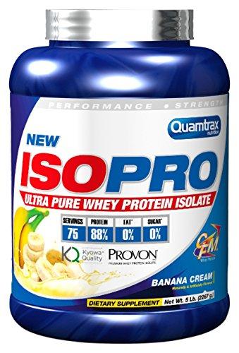 Quamtrax Nutrition Isopro CFM - Suplementos para Deportistas, crema de banana, 2267 gr