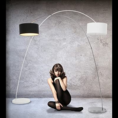 DESIGN BOGENLAMPE von DESIGN DELIGHTS lounge stehlampe schwanenhals lampe weiss standlampe von XTRADEFACTORY GMBH - Lampenhans.de