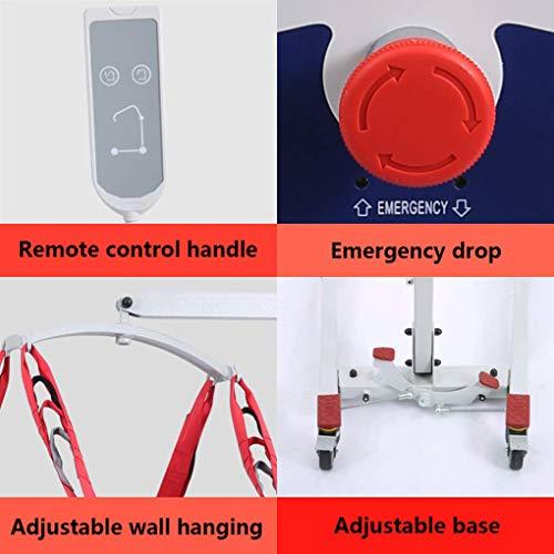 51olfyR1Y6L - YXP Grúa Eléctrica para Pacientes para Uso doméstico Ligeros Plegables con eslingas Medianas de Malla Completa, con Base Baja, Capacidad de Peso de 450 LB