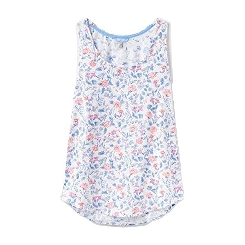 Joules Bo Print Womens Printed Vest - Sky Blue Orchid