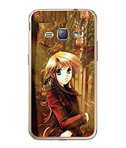 PrintVisa Designer Back Case Cover for Samsung Galaxy J2 (6) 2016 J210F :: Samsung Galaxy J2 Pro (2016) (Lovely Girl Artistic painting Cute Designer Case half saree Cell Cover Impressive Smartphone Cover Modernart abstract painting )