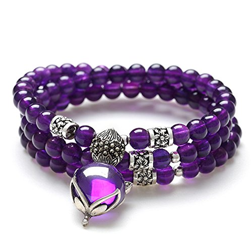 Bracelet améthyste/ multi-bijoux/Bracelets de cristal naturels douces/ bijoux H