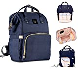 #1: Robustrion Stylish Waterproof Multifunctional Diaper Backpack, 20x18x40cm (Blue)