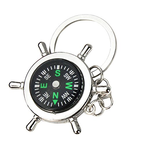 Webla Neuer beweglicher Legierungs-Silber-Seekompass-Helm Keychain Ring-Ketten-Geschenk