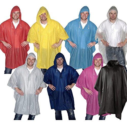 takestop® Poncho Cape Wasserdicht mit Kapuze Regen Damen Herren Farbe ()