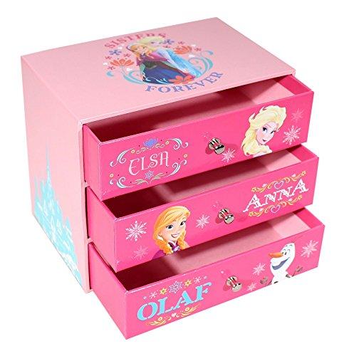 p:os 25203 Disney Frozen Schmuckkasten mit 3 Schubfächern, 14 x 9 x 12 cm
