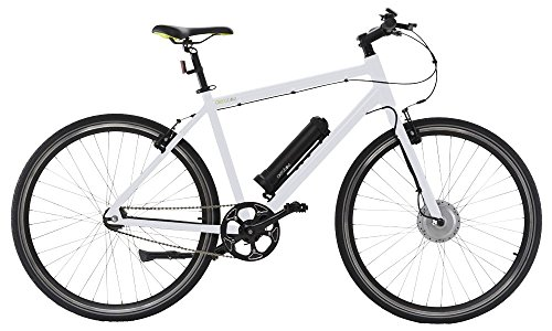 "AEROBIKE 28"" Wheels Pedal Assisted Mountain Bike 36v Li-ion Battery SRAM Automatix Gear System (White)"